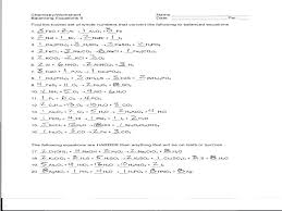 balancing chemical equations unique fresh worksheet 1 answers part luxury