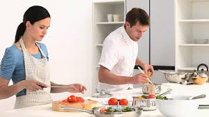 Kitchen counter with food Photography Hd Royalty Free Stock Footage 823077195 Framepool Footage Couple Preparing Food Kitchen Hd Stock Video 823077195