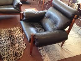 1960s 70s black sergio rodrigues lounge set model sheriff mole by oca brazil 1961