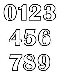 Disegno Di Numeri Classici Da Colorare Disegni Da Colorare E