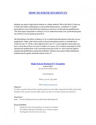 How To Make A Student Resume Resume Examples For Highschool Students With No Work Experience How 24
