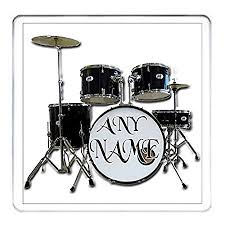 your name here personalised drummer gift coaster black personalised drum kit drummer rock band