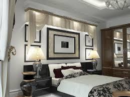 Minimalist Illuminating Back Lit Broken White Valances With Black And White  Design Decorations Modern Bedroom Lighting