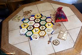 Handmade Wooden Board Games My girlfriend made her own Settlers of Catan board hope you enjoy 94