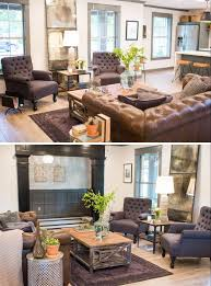 leather couch and upholstered chair