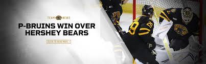 P Bruins Top Hershey Bears In Overtime 2 1 Providence Bruins
