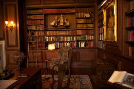 contemporary home library decor ideas