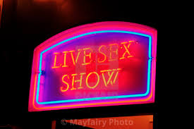 Neon Lights Live Neon Lights Sign Reading Live Sex Show Amsterdam