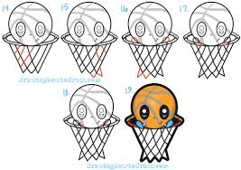 learn how to draw a cartoon basketball character cute kawaii chibi style in simple learn how to draw kawaii and cute s with kids drawing book