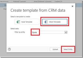 Button Template Word Word Template Feature In Dynamics Crm 2016 Microsoft