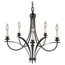 boulevard 5 light oil rubbed bronze single tier chandelier
