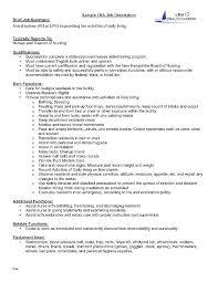 Resume For Cna Position Classy Nursing Assistant Job Description For Resume Baxrayder