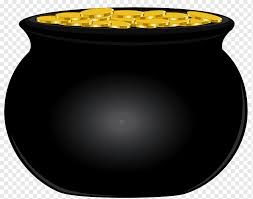 Black cauldron and gold coins, Gold, Black Pot of Gold, gold Coin, gold,  product png | PNGWing