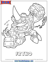 Skylanders Swap Force Fire Fryno Coloring Page H M Coloring Pages