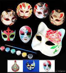 2019 diy blank mask painting set paper mask for masquerade party cosplay costume for kids paint and mask from bestspinner