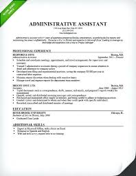 Secretary Resume Template Stunning Excel Skills Resume Administrative Assistant Resume Sample Microsoft