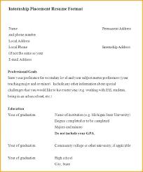 Internship Resume Samples For Computer Science Best Of Intern Resume Sample Fdlnews