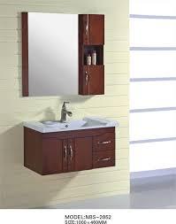 bathroom storage under sink. 16mm Oak Material Solid Wood Bathroom Cabinet Kecil 100 X 46 / Cm Kuningan Handle Storage Under Sink