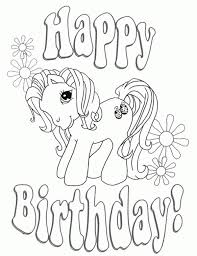 Small Picture Happy Birthday My Little Pony coloring page free for kids Fun