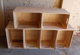 Six Wooden Crates/ Wall Unit/ Bookcase/ Storage/ Crate Shelves/ Reclaimed