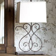 Wrought Iron Home Decor Accents Park Hill Artisan Metalwork Lamp LP100 46