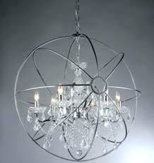 chrome orb chandelier glass with font crystal chande