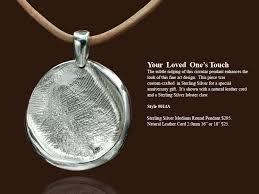pendant charm keepsake custom fingerprint impression from forever touch