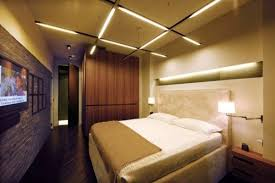Modern Bedroom Lighting Ideas: Bedroom With Modern Ceiling And Wall Lighting