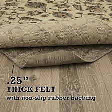 of the best rug pads for the money as it can easily prolong the lifeline of your polished hardwood floor as well as maintain the texture of your carpet