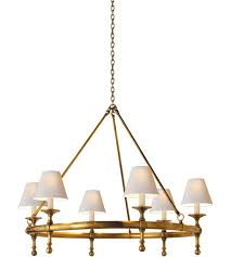 visual comfort sl5812hab np e f chapman classic 6 light 33 inch hand rubbed antique brass chandelier ceiling light