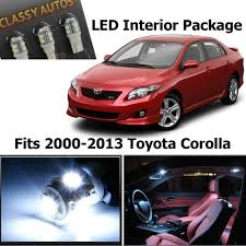 Amazon.com: Classy Autos Toyota Corolla White Interior LED Package ...