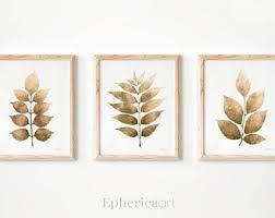Leaves Wall Set, Monochrome Print Set, Fall Wall Art Matching PRINTABLES,  Home Wall