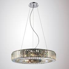 Diyas Il30079 Torre Crystal 9 Light Pendant Polished Chrome Frame