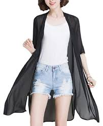 Buy Yayun <b>Women's Summer Sheer</b> Chiffon Loose Long Cardigan ...