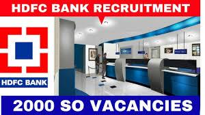 hdfcbank hdfc bank recruitment 2016 2000 vacancies