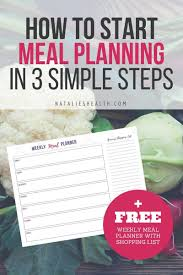 Free Weekly Meal Planner With Grocery List How To Start Meal Planning In 3 Simple Steps Natalies Happy Health