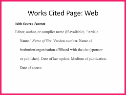 what is a works cited page what is a work cited page bio letter format