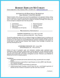 Auto Mechanic Resume Templates Auto Mechanic Resume Template Writing A Concise Auto Technician