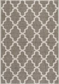 indoor outdoor gina moroccan trellis area rug rectangle taupe 6 3
