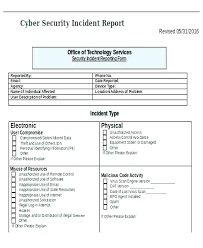 Incident Report Template Microsoft Word Cool Technology Incident Report Template Homefit