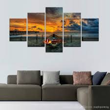 2018 hot unframed large hd seaview with shiptop rated canvas with living room wall art