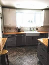 Ikea Akurum Kitchen Cabinets Before After Single Wide Kitchen Opens Up The Floor Grey