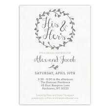 Couple Wedding Shower Invitations Personalized Wedding Bridal Shower Invitation Couples Wreath 5 X 7 Flat