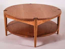 round coffee table with shelf round with a shelf coffee table shelf oak