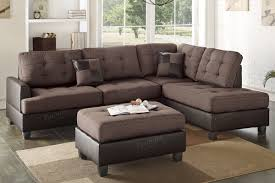 brown sectional sofas. Exellent Sofas Ancel Brown Leather Sectional Sofa And Ottoman Intended Sofas