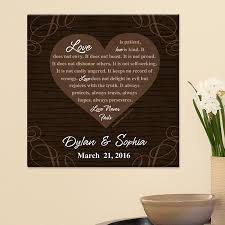 personalized wedding gifts personal creations Whose Name Should Go First On Wedding Invitations love never fails canvas whose name goes first on wedding invitations