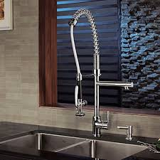 Contemporary Solid Brass Spring Kitchen Faucet– FaucetSuperDeal