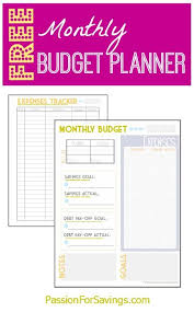 Free Monthly Budget Planner Perfect For The New Year Start
