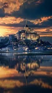 Mont Saint Michel France Sunset View 4K ...