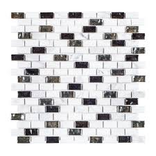 polar ice 11 3 8 in x 12 in x 8 mm stone glass mosaic tile